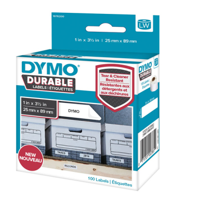 DYMO 1976200 LW Kalıcı Güçlü Etiket 25x89mm / 100 lü Paket