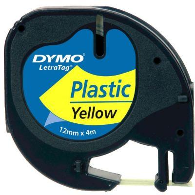 DYMO S0721620 Sarı LetraTag Plastik Şerit (12mm x 4mt)