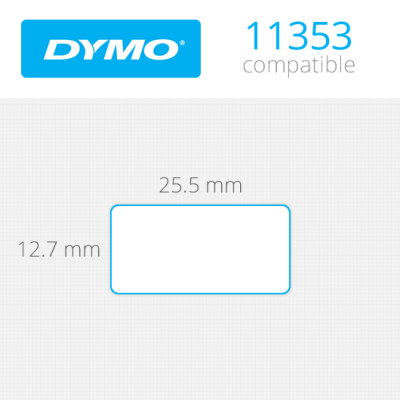 DYMO 11353 LW Çok Amaçlı Etiket 13mmx25mm / 1000 li Paket
