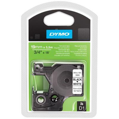 DYMO 16960 Siyah/Beyaz Yüksek Performans PermanentPoly (19 mm x 5,5 mt)
