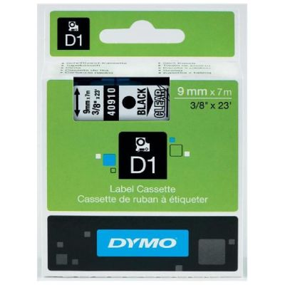 DYMO 40910 Şeffaf/Siyah D1 Yedek Şerit (9 mm x 7 mt)