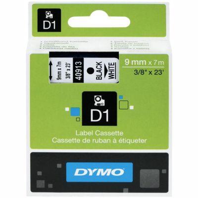 DYMO 40913 Beyaz/Siyah D1 Yedek Şerit (9 mm x 7 mt)