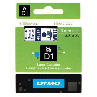 DYMO 40914 Beyaz/Mavi D1 Yedek Şerit (9 mm x 7 mt)