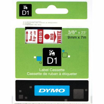 DYMO 40915 Beyaz/Kırmızı D1 Yedek Şerit (9 mm x 7 mt)