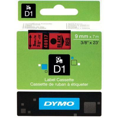 DYMO 40917 Kırmızı/Siyah D1 Yedek Şerit (9 mm x 7 mt)