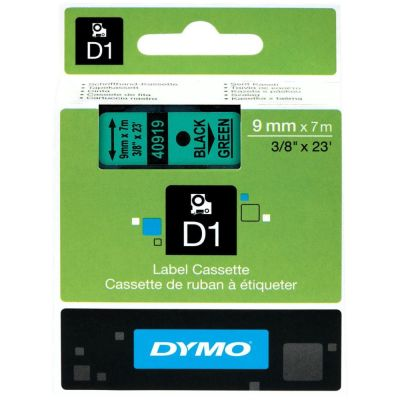 DYMO 40919 Yeşil/Siyah D1 Yedek Şerit (9 mm x 7 mt)