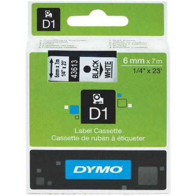 DYMO 43613 Beyaz/Siyah D1 Yedek Şerit (6 mm x 7 mt)