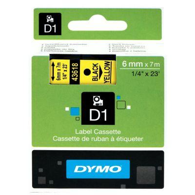 DYMO 43618 Sarı/Siyah D1 Yedek Şerit (6 mm x 7 mt)