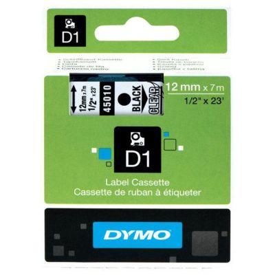 DYMO 45010 Şeffaf/Siyah D1 Yedek Şerit (12 mm x 7 mt)