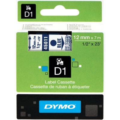 DYMO 45011 Şeffaf/Mavi D1 Yedek Şerit (12 mm x 7 mt)