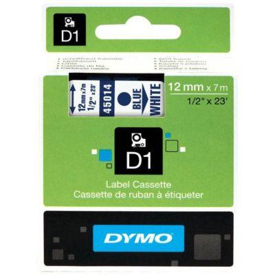 DYMO 45014 Beyaz/Mavi D1 Yedek Şerit (12 mm x 7 mt)