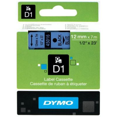 DYMO 45016 Mavi/Siyah D1 Yedek Şerit (12 mm x 7 mt)