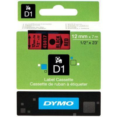 DYMO 45017 Kırmızı/Siyah D1 Yedek Şerit (12 mm x 7 mt)