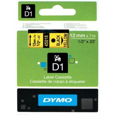 DYMO 45018 Sarı/Siyah D1 Yedek Şerit (12 mm x 7 mt)