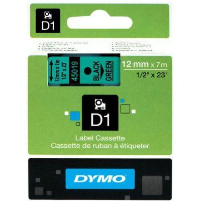 DYMO 45019 Yeşil/Siyah D1 Yedek Şerit (12 mm x 7 mt)