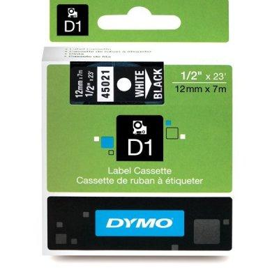 DYMO 45021 Siyah/Beyaz D1 Yedek Şerit (12 mm x 7 mt)