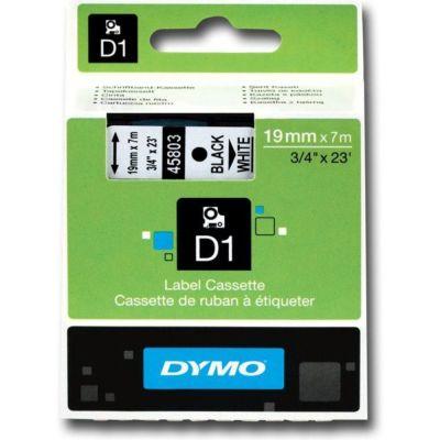 DYMO 45803 Beyaz/Siyah D1 Yedek Şerit (19 mm x 7 mt)