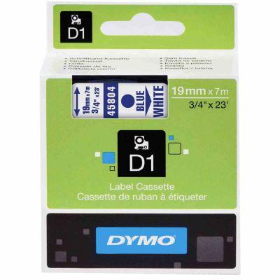 DYMO 45804 Beyaz/Mavi D1 Yedek Şerit (19 mm x 7 mt)