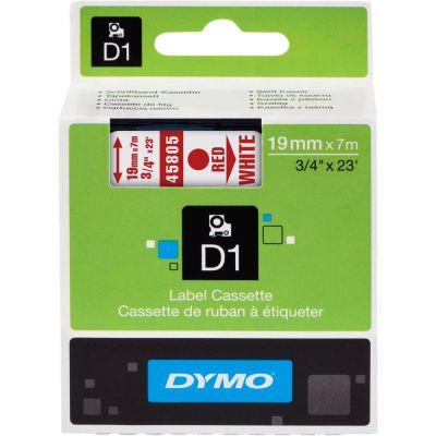 DYMO 45805 Beyaz/Kırmızı D1 Yedek Şerit (19 mm x 7 mt)