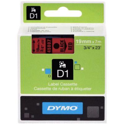 DYMO 45807 Kırmızı/Siyah D1 Yedek Şerit (19 mm x 7 mt)