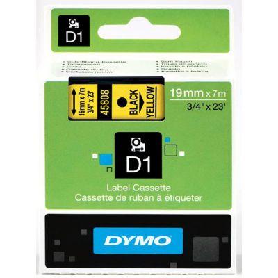 DYMO 45808 Sarı/Siyah D1 Yedek Şerit (19 mm x 7 mt)