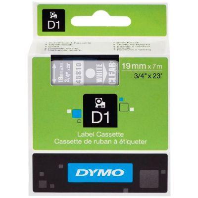 DYMO 45810 Şeffaf/Beyaz D1 Yedek Şerit (19 mm x 7 mt)
