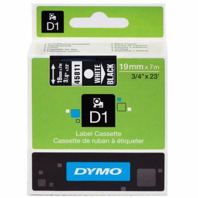 DYMO 45811 Siyah/Beyaz D1 Yedek Şerit (19 mm x 7 mt)
