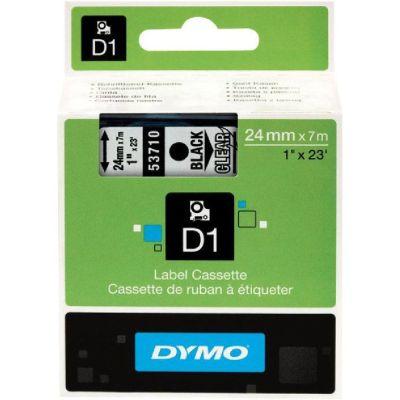 DYMO 53710 Şeffaf/Siyah D1 Yedek Şerit (24 mm x 7 mt)