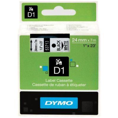 DYMO 53713 Beyaz/Siyah D1 Yedek Şerit (24 mm x 7 mt)