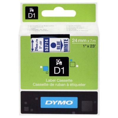 DYMO 53714 Beyaz/Mavi D1 Yedek Şerit (24 mm x 7 mt)