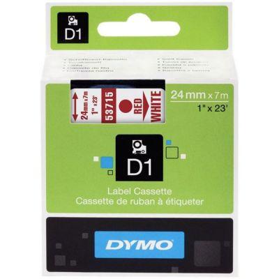 DYMO 53715 Beyaz/Kırmızı D1 Yedek Şerit (24 mm x 7 mt)