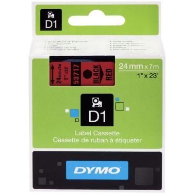 DYMO 53717 Kırmızı/Siyah D1 Yedek Şerit (24 mm x 7 mt)