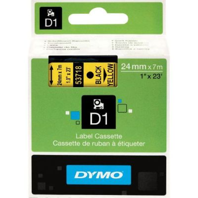 DYMO 53718 Sarı/Siyah D1 Yedek Şerit (24 mm x 7 mt)