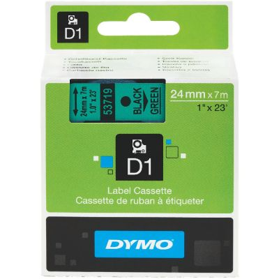 DYMO 53719 Yeşil/Siyah D1 Yedek Şerit (24 mm x 7 mt)
