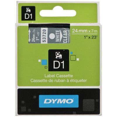 DYMO 53720 Şeffaf/Beyaz D1 Yedek Şerit (24 mm x 7 mt)