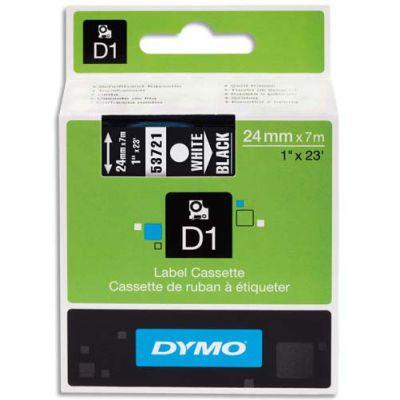 DYMO 53721 Siyah/Beyaz D1 Yedek Şerit (24 mm x 7 mt)