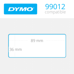 DYMO 99012 LW Geniş Adres Etiketi 89x36mm 520 li Paket - Thumbnail