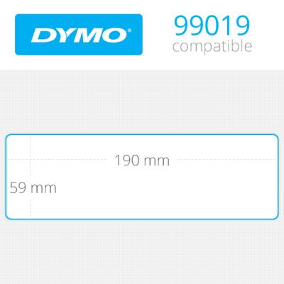 DYMO 99019 LW Geniş Klasör Sırt Etiketi 190x59mm / 110 lu Paket
