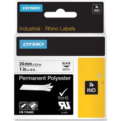 DYMO RhinoPRO 1734523 Beyaz/Siyah Sabit Polyester Şerit 24 mm x 5,5 mt