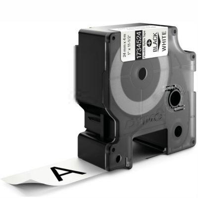 DYMO RhinoPRO 1734524 Beyaz/Siyah Esnek Naylon Şerit 24 mm x 3,5 mt
