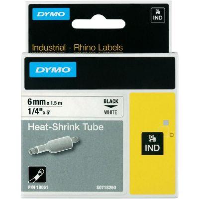 DYMO RhinoPRO 18051 Beyaz/Siyah Isıyla Küçülen Şerit 6 mm x 1,5 mt