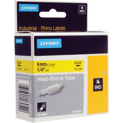 DYMO RhinoPRO 18052 Sarı/Siyah Isıyla Küçülen Şerit 6 mm x 1,5 mt