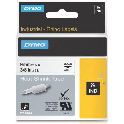 DYMO RhinoPRO 18053 Beyaz/Siyah Isıyla Küçülen Şerit 9 mm x 1,5 mt