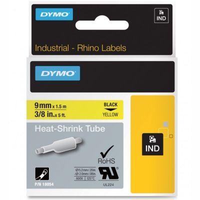 DYMO RhinoPRO 18054 Sarı/Siyah Isıyla Küçülen Şerit 9 mm x 1,5 mt
