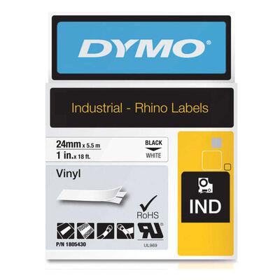 DYMO 1805430 RhinoPRO Renkli Vinil Şerit 24 mmx5.5m Beyaz/Siyah