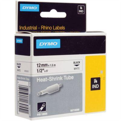 DYMO RhinoPRO 18055 Beyaz/Siyah Isıyla Küçülen Şerit 12 mm x 1,5 mt