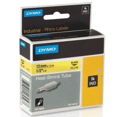 DYMO RhinoPRO 18056 Sarı/Siyah Isıyla Küçülen Şerit 12 mm x 1,5 mt