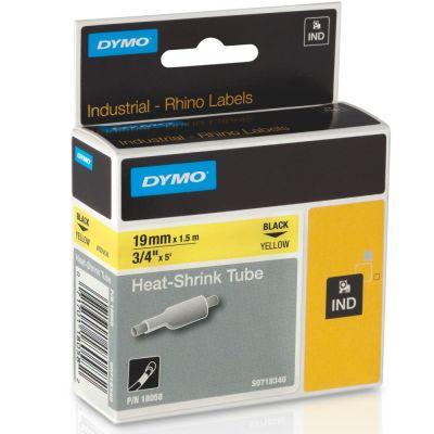 DYMO RhinoPRO 18058 Sarı/Siyah Isıyla Küçülen Şerit 19 mm x 1,5 mt