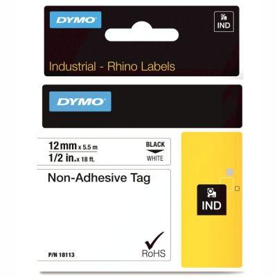DYMO RhinoPRO 18113 Beyaz/Siyah Yapışkansız Şerit 12 mm x 5,5 mt