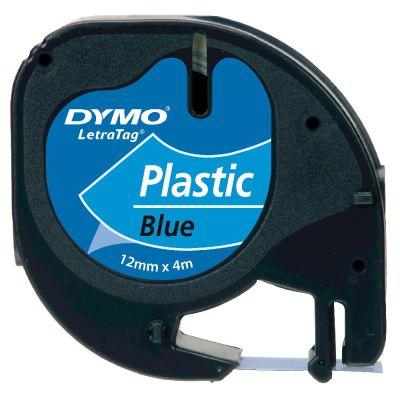 DYMO S0721650 Mavi LetraTag Plastik Şerit (12mm x 4mt)